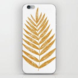 Golden Fern iPhone Skin