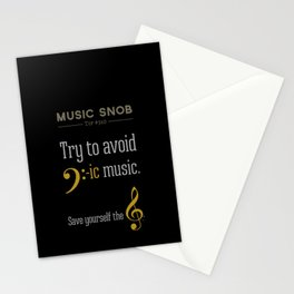 AVOID Bass-ic Music — Music Snob Tip #310.5 Stationery Cards