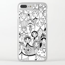 Matrioshka doodle Clear iPhone Case