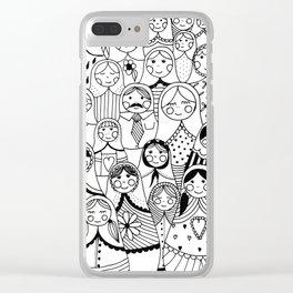 Matrioshka doodle Clear iPhone Case