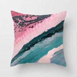 ECHO BEACH BABY   Acrylic abstract art by Natalie Burnett Art Throw Pillow