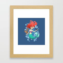 Finding New Friends Framed Art Print