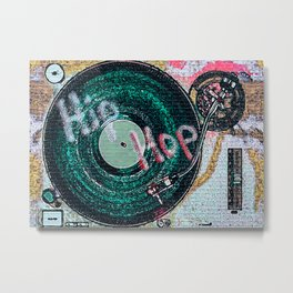 Disc Jockey DJ Art Metal Print