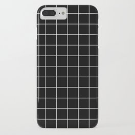 Grid Pattern Line Stripe Black and White Minimalist Geometric Stripes Lines iPhone Case