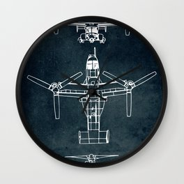 BELL BOEING V-22 OSPREY -1989 Wall Clock