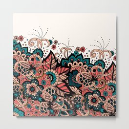 Ornament Arabian Style, Arabesque Pattern Metal Print