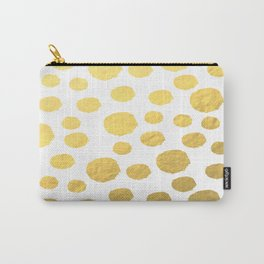 Gold Polka Art Carry-All Pouch