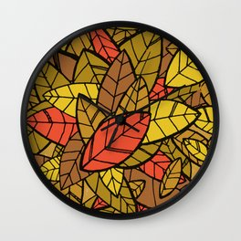 Autumn Memories (a pile of leaves) Wall Clock