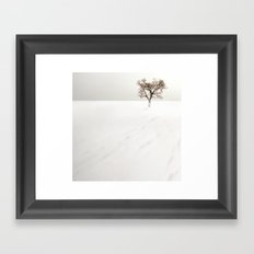 frozen lake. Framed Art Print