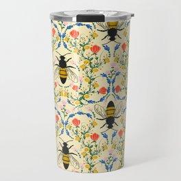 Bee Garden - Cream Travel Mug