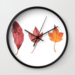 FIERY FALL, watercolor by Frank-Joseph Wall Clock