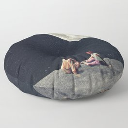 I Gave You the Moon for a Smile Floor Pillow