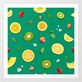 Mixed Fruit 12 Art Print