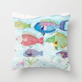Seychelles Fish 1 Throw Pillow
