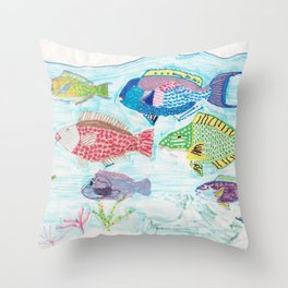 Seychelles Fish 1 Throw Pillow