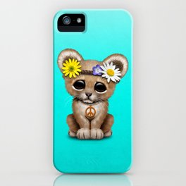 Cute Baby Lion Cub Hippie iPhone Case