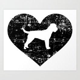 Border Terrier heart Art Print