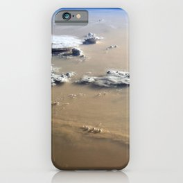 Dust and Clouds Over Sahara Desert from Earth's Orbit Satellite Photograph iPhone Case