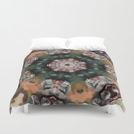 Crystals and kaleidoscopes Duvet Cover