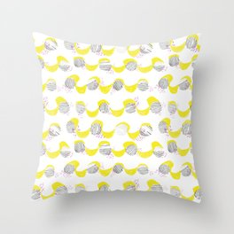 Yellow Roof Throw Pillow