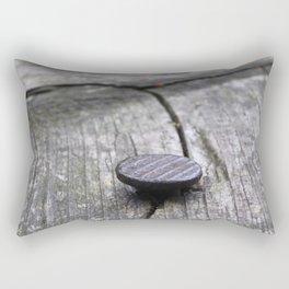 Nail and old wood Rectangular Pillow