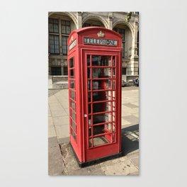 London phone booth / phone box Canvas Print