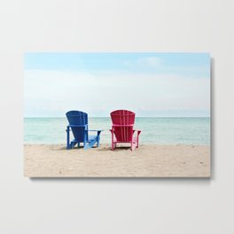 AFE Beach Chairs Metal Print