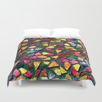 mosaic Duvet Covers featuring Mosaic by Klara Acel