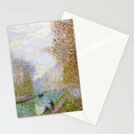 River Seine, Autumn, Paris, France by Francis Picabia Stationery Cards