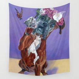 Hazel the Princess Boxer Girl Wall Tapestry