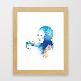 She (The Ocean) Framed Art Print