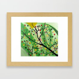 Colorful Abstract Tree Acrylic Painting Art  by Saribelle Rodriguez Framed Art Print
