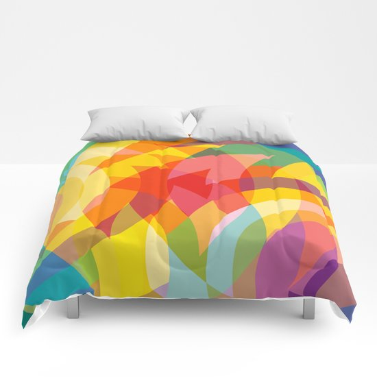 circle colour fields Comforters