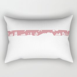 Find your angle_Travel_MonoPink Rectangular Pillow