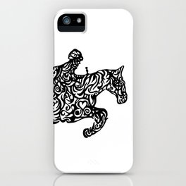 Jumping Horse Ink Artwork iPhone Case
