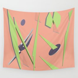 80s Shapes, Colors and Space Wall Tapestry