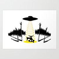 The abduction Art Print