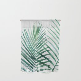 Emerald Palm Fronds Watercolor Wall Hanging