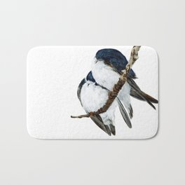 Togetherness - Tree Swallows by Teresa Thompson Bath Mat