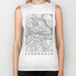 Stockholm Map Line Biker Tank