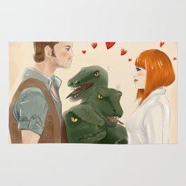 Velociraptors don't like romance Rug