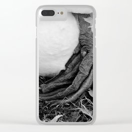 Swans feet Clear iPhone Case
