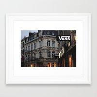 vans Framed Art Prints featuring Vans by ptitlouis