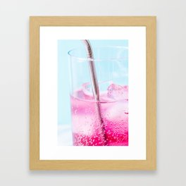 Blueberry Soda Framed Art Print