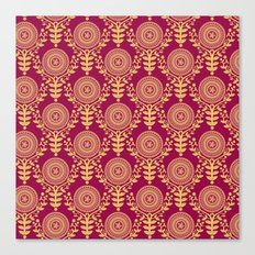 Paper Doily (RED) Canvas Print