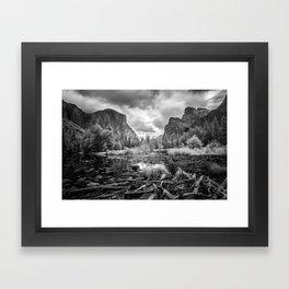 Grey Day Framed Art Print
