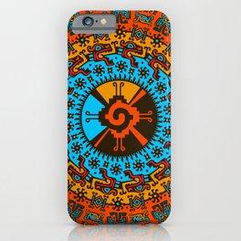 Colorful Hunab Ku Mayan symbol #7 iPhone Case