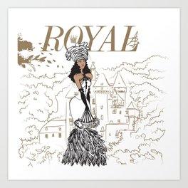 Kayla Royal Art Print