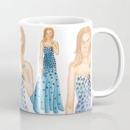 Karlie in Strapless Blue Mermaid Gown Coffee Mug