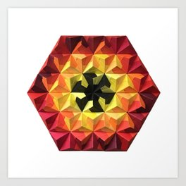 Origami Oh-Seven-Two Fire Art Print